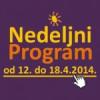 Nedeljni program DKCB za period od 12. do 18. aprila 2014. godine