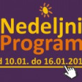 Program za period od 10. do 16. januara 2015. godine