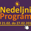 Program za period od 21. do 27. februara 2015. godine