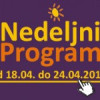 Program za period od 18. do 24. aprila 2015. godine