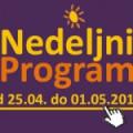 Program za period od 25. aprila do 1. maja 2015. godine