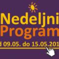 Program za period od 9. do 15. maja 2015. godine