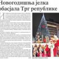 ПОЛИТИКА – Новогодишња јелка обасјала Трг републике 06/12/2015
