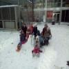 Снежне чаролије испред Дечјег културног центра Београд