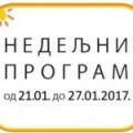 Програм за период од 21. до 27.1. 2017. године