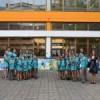 Наступом Хора Дечјег културног центра отворен мурал у Гроцкој