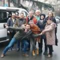 Представници Дечјег културног центра Београд пред полазак на пут у Хрватску