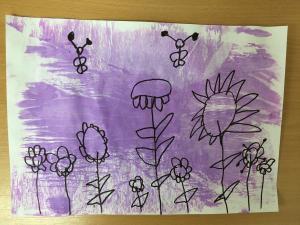 Сара Беговић,  5 година,  Цвеће, ПУ Стоногица, Сремска Митровица