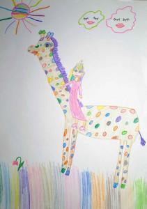 Гала Обрадовић, 10 година, Дугина жирафа, ОШ Марија Бурсаћ, Београд,