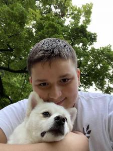 Вук Вучичевић, 12 година, пас Меда